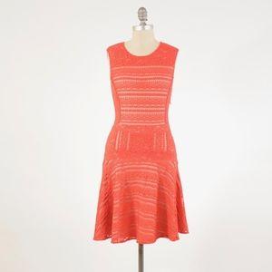 BCBG Max Azria Stretch Lace Mesh Fit & Flare Dress